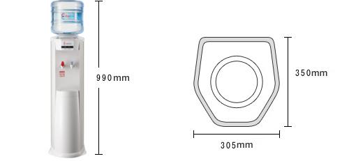 クリクラサーバーLのサイズ・寸法