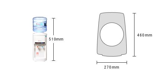 クリクラサーバーSの寸法・サイズ